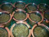 Les rillettes au feu de bois, en pot, prêtes à être dégustées...